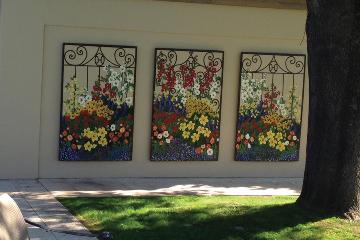 beth zink commissioned art flower mural