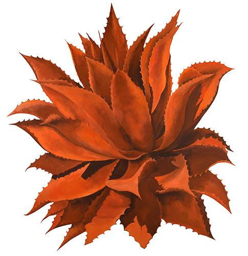 Beth Zink Outdoor Metal Art Orange