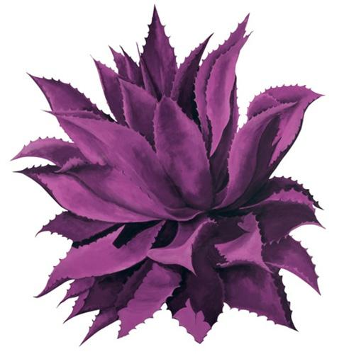 Beth Zink Outdoor Metal Art Purple