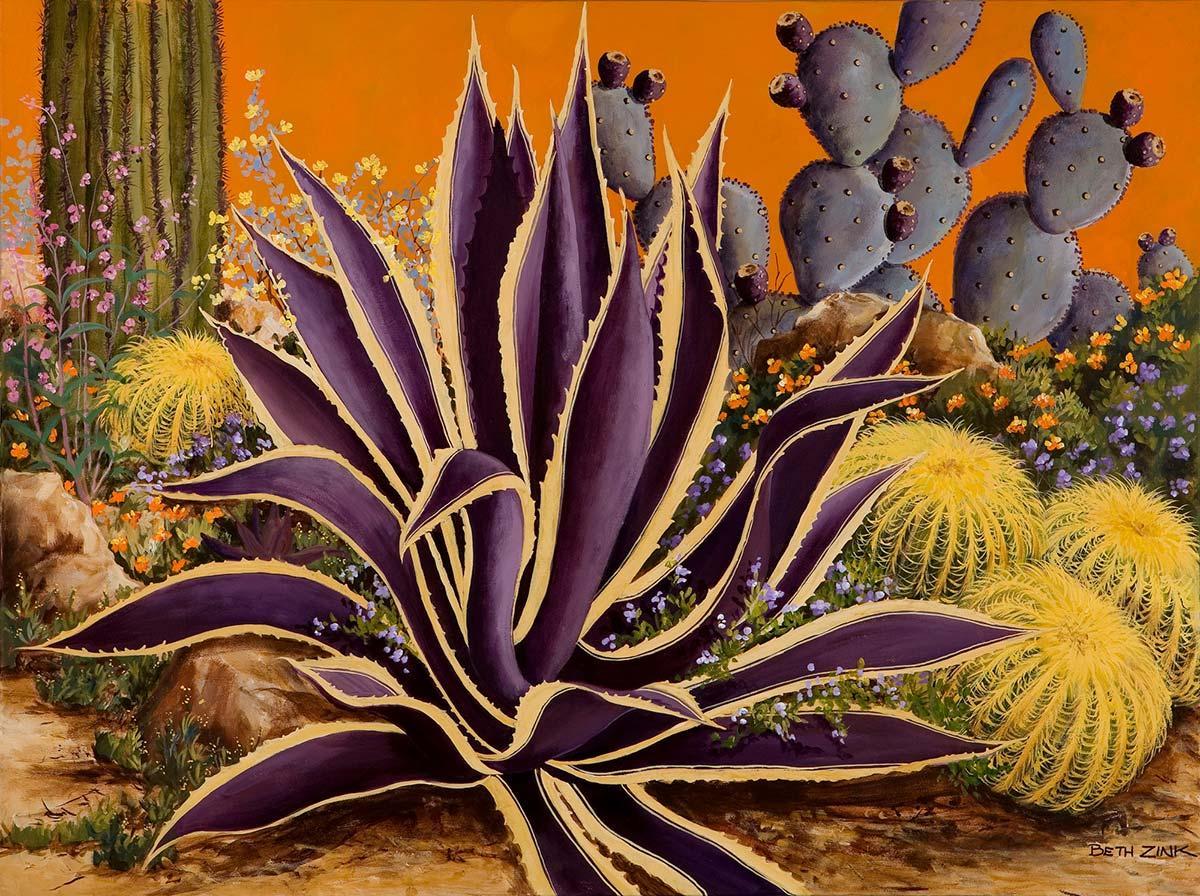 beth zink painting cactus garden