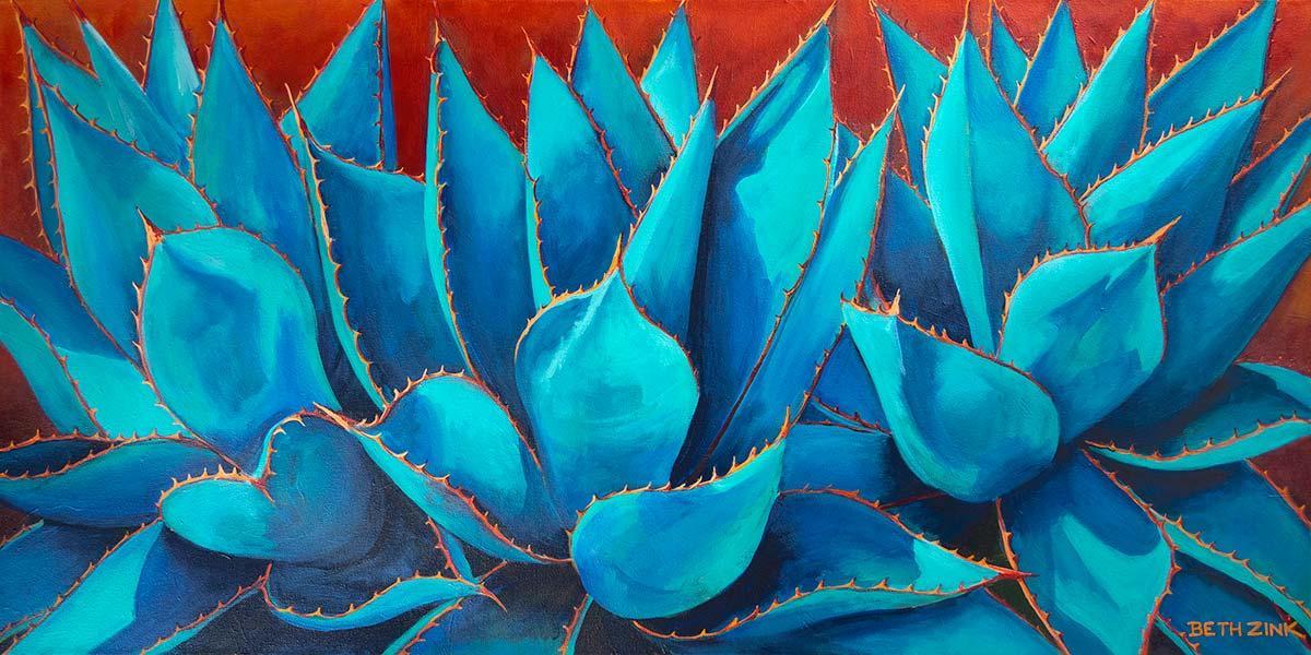 beth zink painting three aloe plants