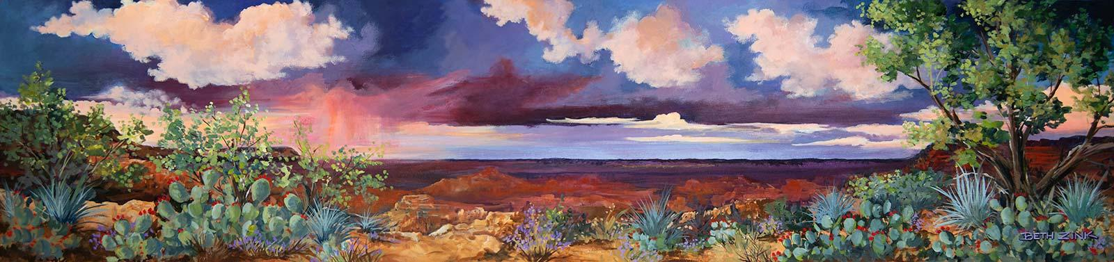 beth zink painting desert storm