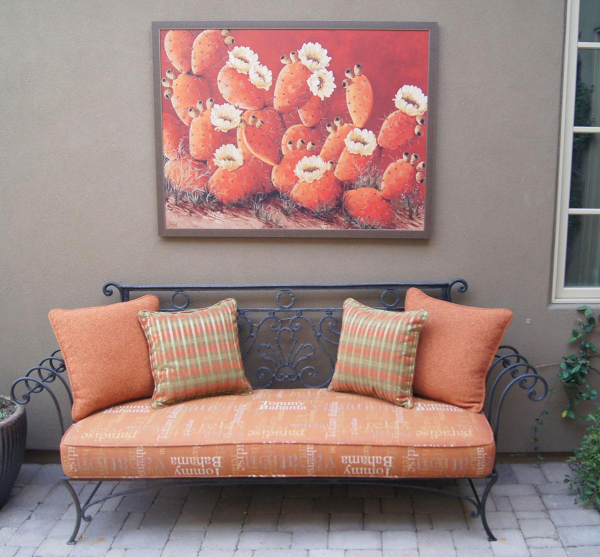 beth zink art in homes prickly pear cactus