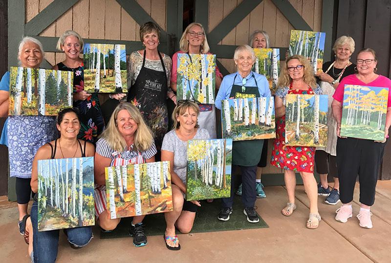 beth zink aspen trees painters workshop
