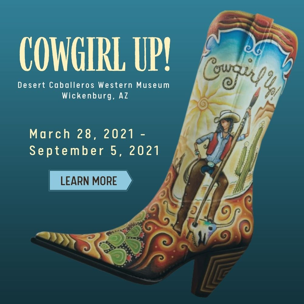 Beth ink Exhibition at 2021 Cowgirl Up in Wickenburg