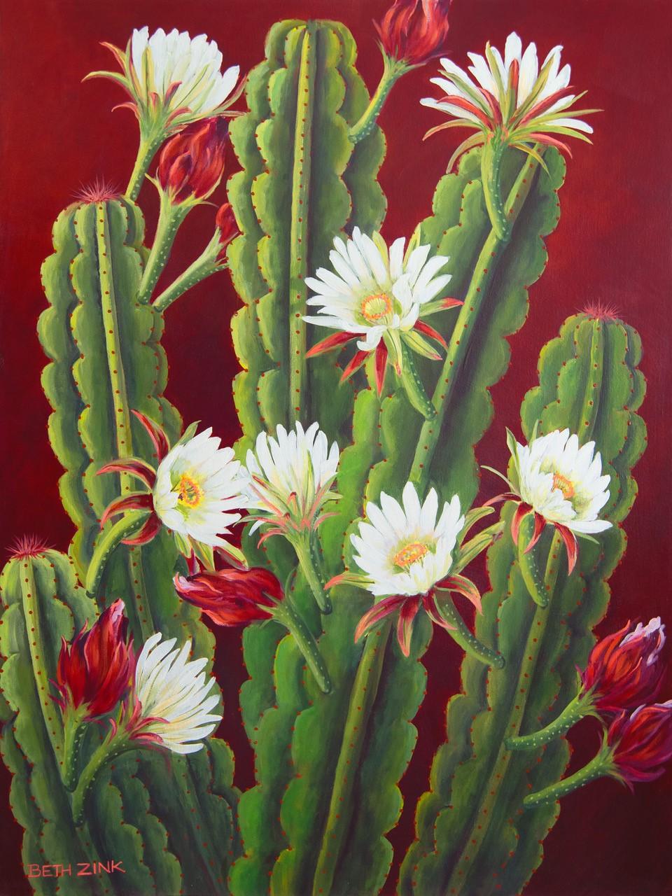 Bloomin' Cereus 40x30 - $4500