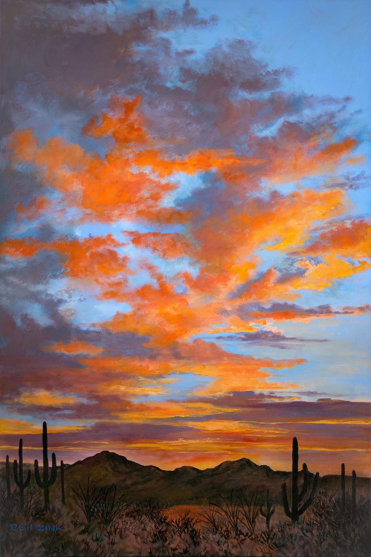 Afterglow 36x24 - $3900